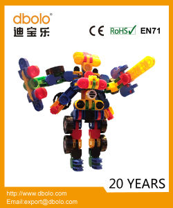 OEM Children Newest and Fashion Deformed 3D Building Blocks with Great Price Plastic Building Blocks pictures & photos