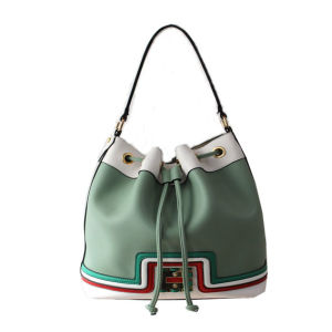 Fashion Ladies PU Leather Designer Bucket Bag pictures & photos