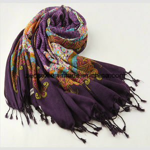 Wool Long Scarf for Middle East Lady or Pashmina Shawl pictures & photos