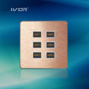 1-6 Gangs Lighting Switch Touch Panel Aluminum Alloy Material (AD-ST1000K-CAN) pictures & photos