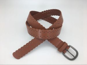Fashion PU Belt with Cut out Design for Ladies