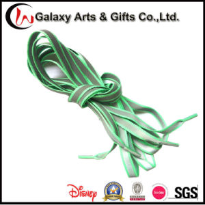 10mm Flat Safety Visibility Fashion Glowing Polyester Refelective Shoelaces pictures & photos