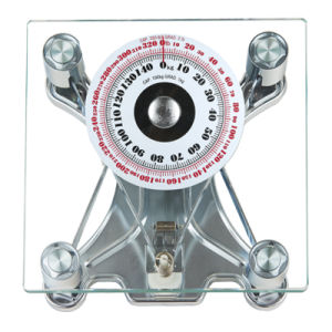 150kg 8mm Square Glass Platform Analogue Boby Health Bathroom Scale pictures & photos