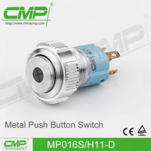 CMP 16mm Black Metal Push Button Switch (MP016S/F11-E/TUV, CE) pictures & photos