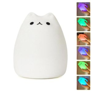 Wholesale Super Cute Soft Silicone Cat LED Night Light for Kids pictures & photos