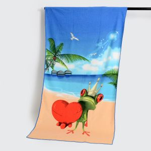 Microfiber Beach Towel with Reactive Printing, Cotton Towel pictures & photos