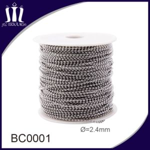 High Quality Hardware Accessories 2.4mm Stainless Steel Ball Chain pictures & photos