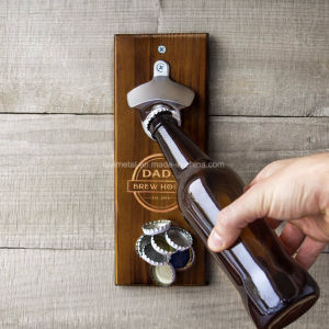 Custom Metal Beer Cast Iron Wall Mounted Bottle Opener pictures & photos