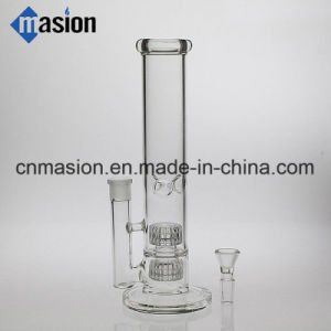 Factory Price Straight Percolating Glass Smoking Pipe (ZY012) pictures & photos