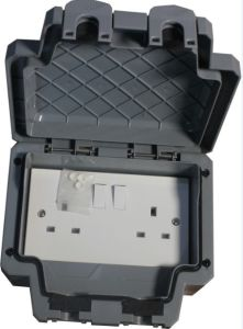 New UK Waterproof Switch Socket with Cover pictures & photos