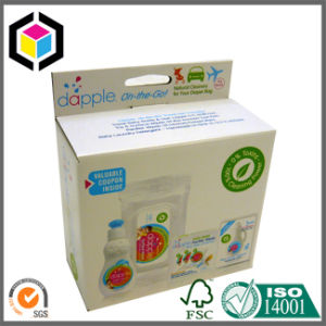 Transparent Window Paper Packaging Box with Hang Tab pictures & photos