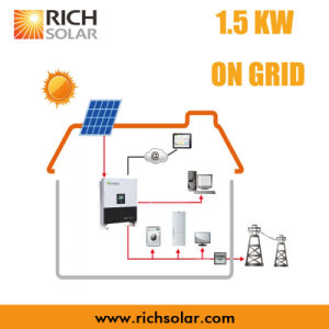 1.5kw Grid PV Solar Power System with Solar Panel