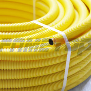 Yellow Corrugated PE-Al-PE Gas Pipe with Size 16mm to 32mm pictures & photos