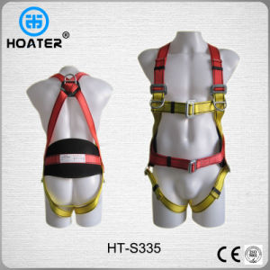 6-Point Wide Waist Belt Men Safety Body Harness with Lanyard