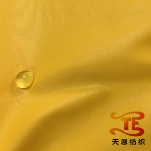 100% Polyester Fabric Waterproof Down Jacket Fabric Oil Cire Pongee Fabric pictures & photos