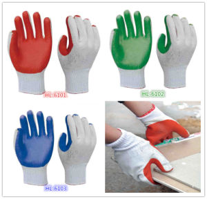 10g Polycotton Latex Stuck Glove pictures & photos