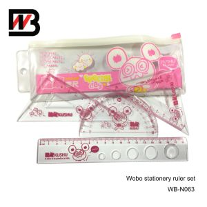 4 In1 Plastic Ruler School and Office Stationery Set pictures & photos