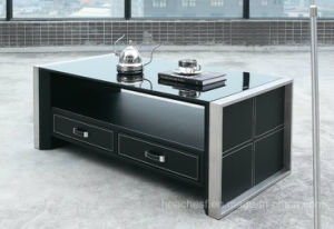 Tempered Glass Coffee Table with Tempered Glass (CT-V1) pictures & photos