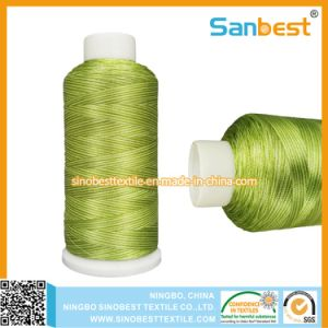 Satin Dyed Polyester Embroidery Thread in High Quality pictures & photos