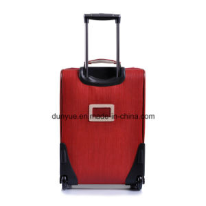 China Manufacturer Practical Design Travel Luggage Case, OEM PU Leather Carry-on Trolley Bag with Two Wheels pictures & photos