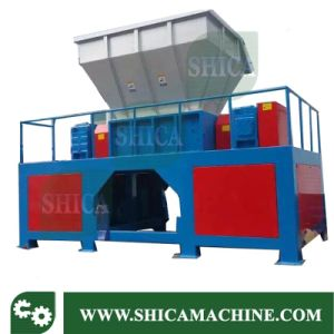 Double Axis Rubber and Plastic Bags Shredder Machine pictures & photos