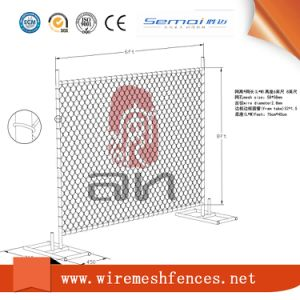 Hot DIP Galvanized Temporary Chain Link Fence China Factory pictures & photos