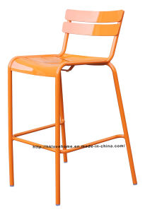 Dining Restaurant Garden Coffee Luxembourg Stacking Orange Bar Chair pictures & photos