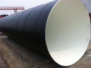Large Diameter PE Coated Fbe Painted Spiral Anti-Corrosivesteel Pipe for Waste Water Drainage Pipeline pictures & photos