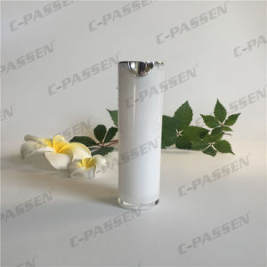 30ml Pearl White Acrylic Cosmetic Packaging Airless Lotion Bottle (PPC-AAB-034) pictures & photos