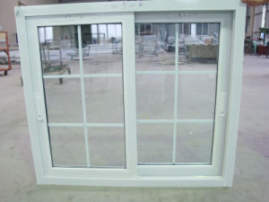 UPVC Impact Kitchen Sliding Window Tinted Green Glass Customized pictures & photos