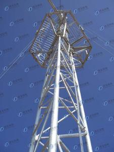 Hot-DIP Galvanizing Communication Triangular Pipe Tower