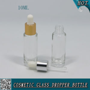 10ml Cylinder Shaped Clear Glass Dropper Bottle for Essential Oil pictures & photos
