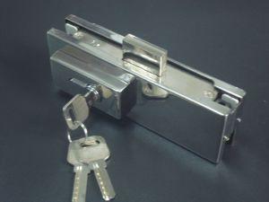 Ks-050 Aluminium Hinge Patch Fitting Glass Door Lock pictures & photos