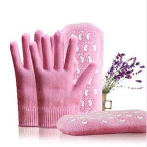 Pink SPA Gel Socks Gel Gloves Moisturizing Gel Gloves pictures & photos