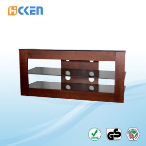 Hot Sell Glass and Wood Furniture Corner LED LCD Modern TV Stand pictures & photos