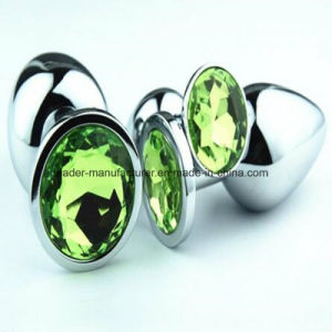 Crystal Jewelry Anal Plugs Booty Beads, Medium Size Metal Anal, Sex Toys Sex Products for Women Men GS0023 pictures & photos