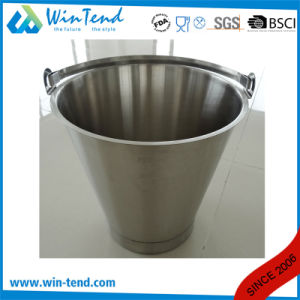 Stainless Steel Engraved Inclined Bucket with Reinforced Bottom Base pictures & photos