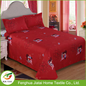 Custom Red King Size Beautiful Wedding Bed Sheet pictures & photos