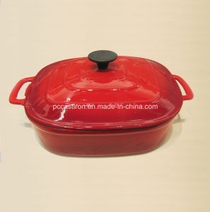 Square Enamel Cast Iron Cocotte Casserole China Factory Size pictures & photos