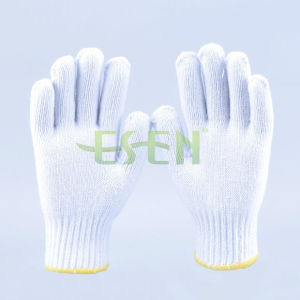2017 Good Quality 900g Natural White 10 Gauge Knitting Cotton Working Gloves pictures & photos