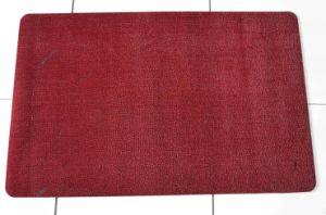 Red Flocking Floor Mat Kitchen Mat Door Carpet Rubber Rug pictures & photos
