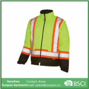 High Visibility 5-in-1 Yellow & Orange Reflective Jacket pictures & photos