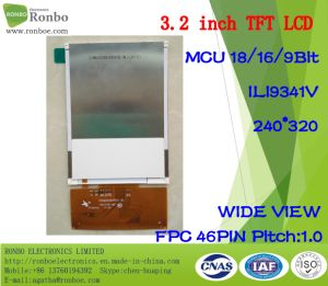 3.2 Inch 240*320 MCU 18/16/9bit 46pin, Ili9341V, TFT LCD Panel pictures & photos