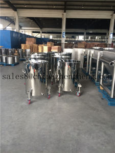 Stainless Steel Movable Drum with Wheels and Triclamp pictures & photos