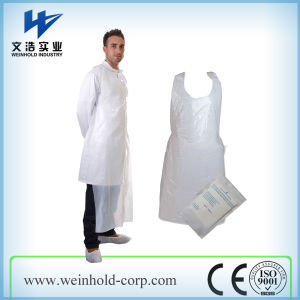 PE Apron Waterproof Disposable HDPE LDPE Plastic Apron pictures & photos