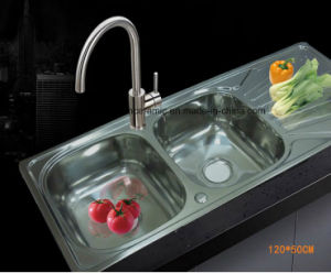 S-1200500 Cheap Price Double Bowl Stainless Steel Kitchen Sink pictures & photos