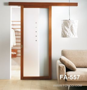 Timber Look Top Hang Systems Interior Sliding Door pictures & photos