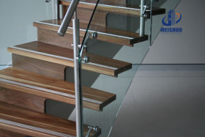Temperary Glass Stair Balustrade with Stainless Steel Post pictures & photos
