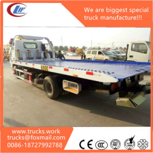 Dongfeng LHD One Carry Two Flatbed Road Wrecker Truck 5tons pictures & photos