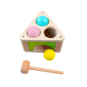 Hot Christmas Gift Wooden Triangle Punch Ball Toy for Kids and Children pictures & photos